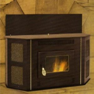 The vertical panel pictured here as typically installed with the 4100 stove.